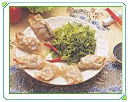 凤尾虾韭菜饺子