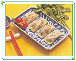 铁板虾韭菜饺子