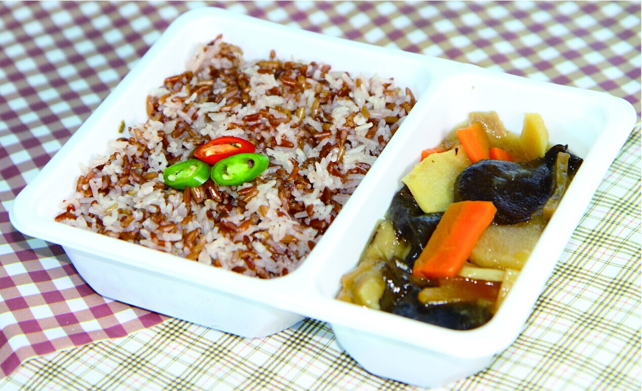 江南素菜白米饭