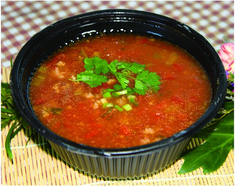 鲜茄肉碎泡饭