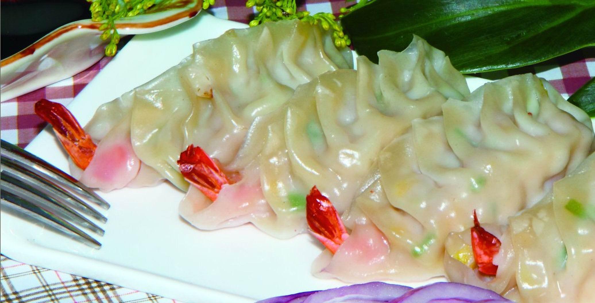 凤尾虾饺子