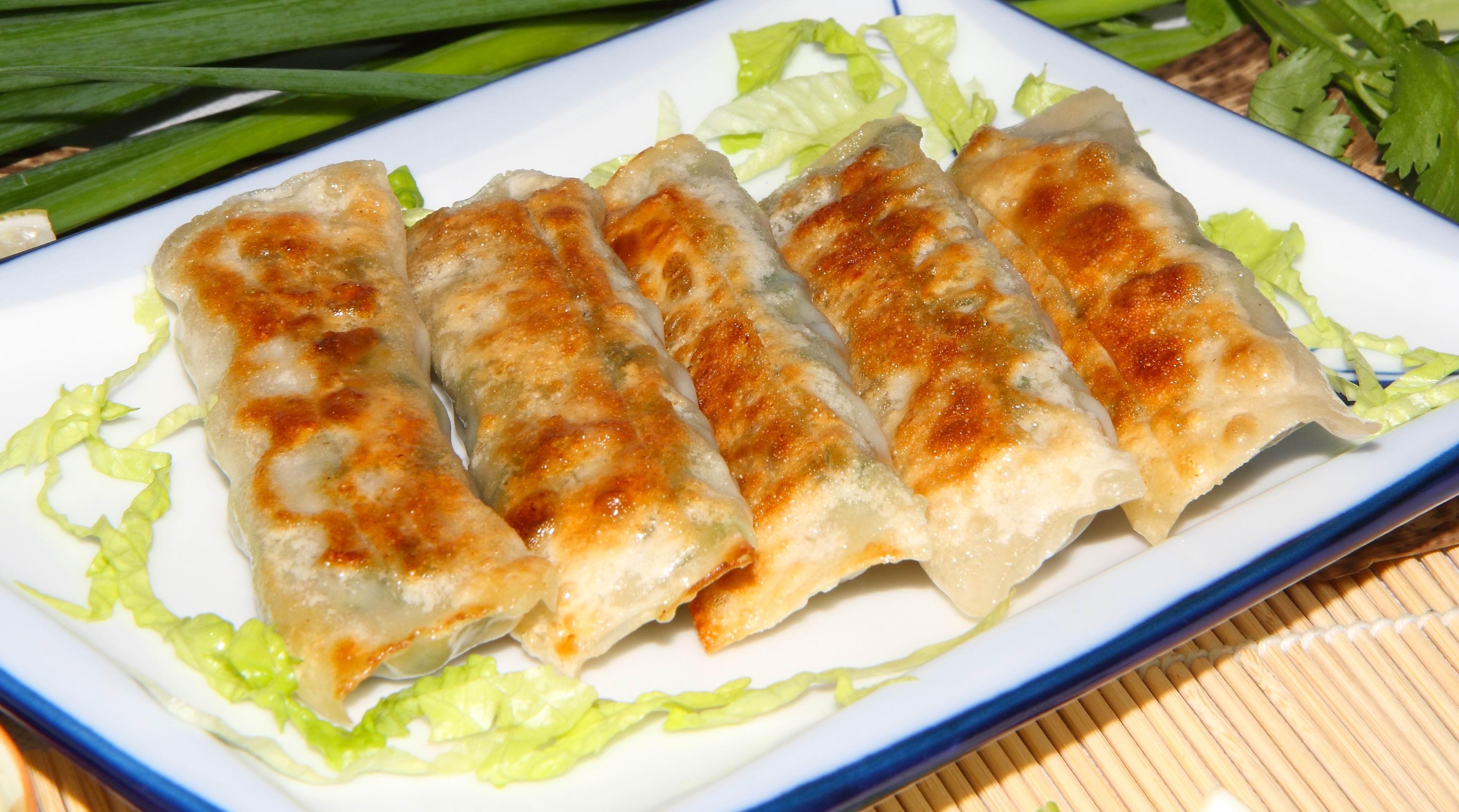 铁板韭菜饺